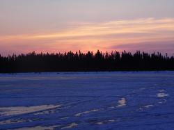 Lac Trappeur au couchant
