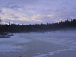 Brume matinale sur le lac