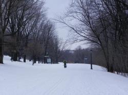 Fondeur sur l'avenue Ontario du Parc des Champs de Bataille